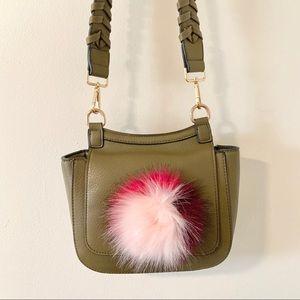 Green Pommed Clutch/Crossbody Bag by Kaes